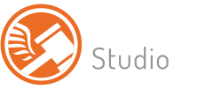 Logo auction studio white